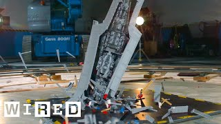 Giant Star Wars LEGO Super Star Destroyer Shattered at 1000 fps | Battle Damage