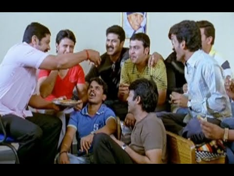 Badradri Full Movie Scenes - Srihari sharing some smiles with Baladhitya & Friends - Nikitha, Raja
