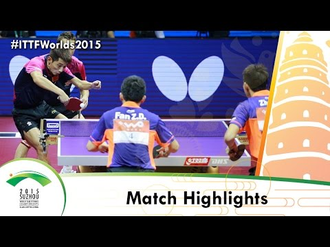 WTTC 2015 Highlights: XU Xin/ZHANG Jike vs FAN Zhendong/ZHOU Yu (FINAL)
