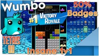 Tetris 99 BR - 50% Badges Insane 1v1 #1 Victory Royale