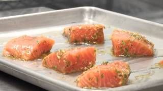 Have you tried the Garlic Herb Roasted Salmon at Kansas Star Casino's Kitchen Buffet? Learn how to make it at home! Chef Jim ...