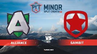 Alliance vs Gambit Esports (карта 1 ч.1), OGA Dota PIT Minor 2019,   Групповой этап