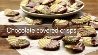 Chocolate covered crisps