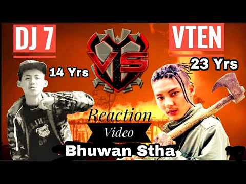 ReacteD On Super Diss From 14 Years Old Kid DJ7 Slaps On VTEN Face By His Lyrics - Bhuwan Stha