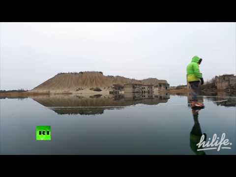 Заброшенная подводная тюрьма в Эстонии превратилась в каток (видео)