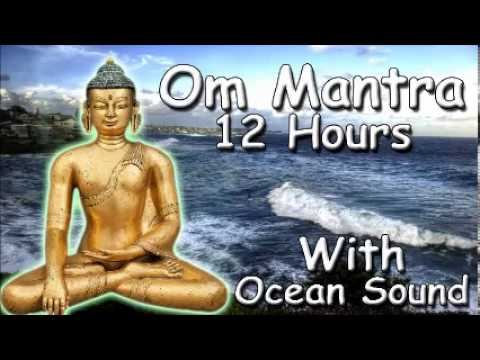 REIKI MUSIC – Om mantra 12 Hour Full Night Meditation with ocean Sound with Tibetan Monks