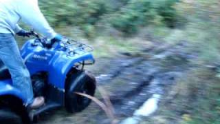 10. Yamaha Bruin 350 2x4 cruises through mud hole