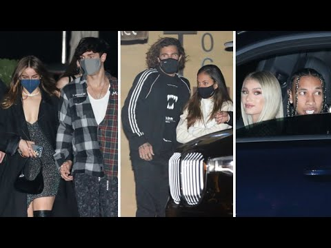 Addison Rae Slays On Date Night With Bryce Hall As Brody Jenner And Tyga Also Dine With Their Dates