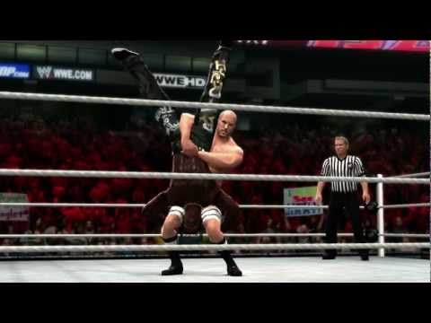 finisher - Antonio Cesaro hits the Neutralizer on R-Truth in WWE '13.