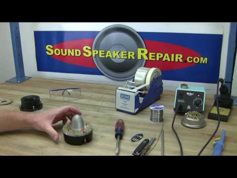 2402 - This video will show you how to install this JBL 2404 diaphragm into the JBL 2404, 2404H, 2405, 2405H and 077 driver. This video will also show you how to in...