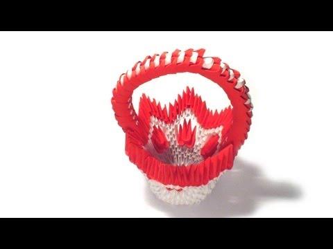 3d origami flower basket tutorial