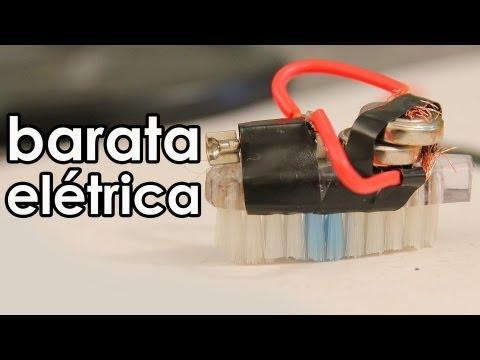 Barata elétrica (mini robô caseiro) (experiência)