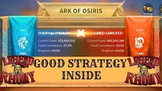 Legend Rhony's 4th win in Ark of Osiris - crazy strategy and battles - Rise of Kingdoms