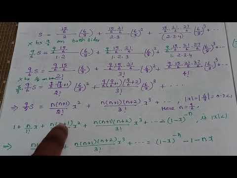 Sum the series 2 # Binomial theorem # Algebra