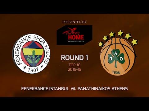 Highlights: Top 16, Round 1, Fenerbahce Istanbul 82-75 Panathinaikos Athens