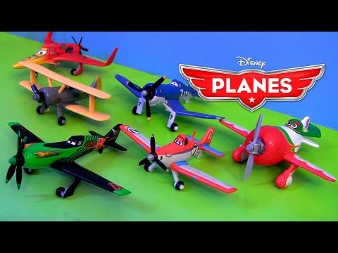 12 Mattel Disney Planes Toys Case A Racing Dusty Skipper Ripslinger Chupacabra diecast unboxing