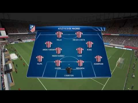 PES 14 – Simulacion / Atletico Madrid vs Barcelona / Uefa Champions league Cuartos De Final