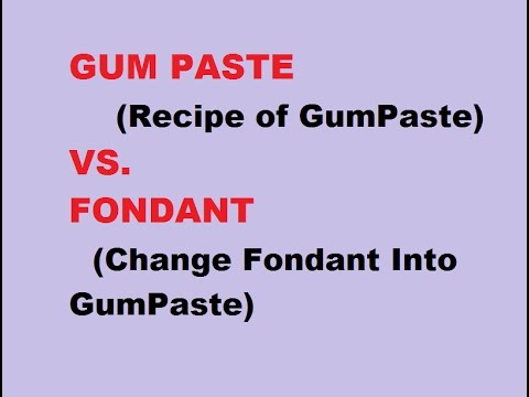 Gum Paste (Recipe)  VS. Fondant (Convert Fondant Into Gum Paste)-In Hindi-For Sugar Flowers/Figures