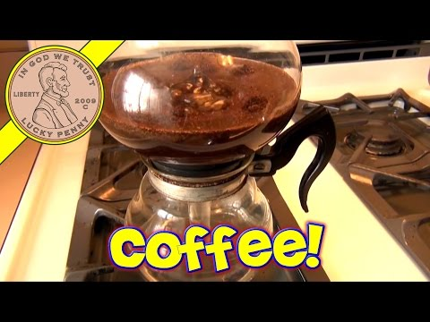 Cory Vacuum Coffee Pot Maker Glass Coffee Maker - Brewing A Cup Of Coffee