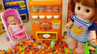 Drinks Machine and Baby doll orbeez surprise eggs toys play