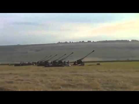 Как это было .... 23.07.2014 Артиллерия ВСУ освобождает город Лисичанск ..... (видео)