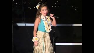 "Katie performs ""Christmas Island"" at the 2014 Kincaid Gooch Christmas Show."