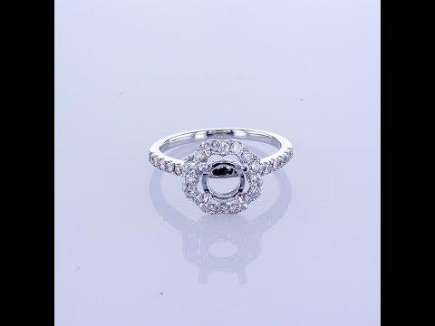 0.56CT 18KT White Gold Engagement Diamond Setting