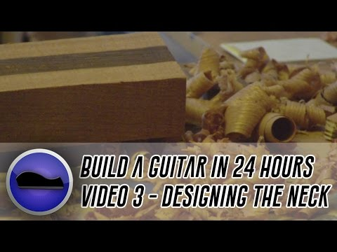 Video 3 - How to build a guitar | design and cut out a guitar neck and fit the fretboard