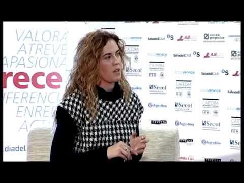 Vanesa Celades en el Día de la Persona Emprendedora de la Comunitat Valenciana 2012