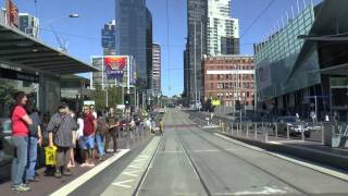 Tram Drivers View Video. Melbourne, Route 96.
