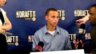 Stephen Curry - 2009 NBA Draft Media Day Interview