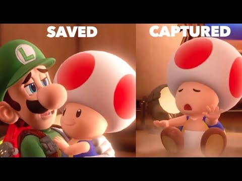 Saving Toad Vs Getting Him Captured - All Choices Luigi's Mansion 3