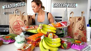 trader joe's grocery haul by Alisha Marie Vlogs