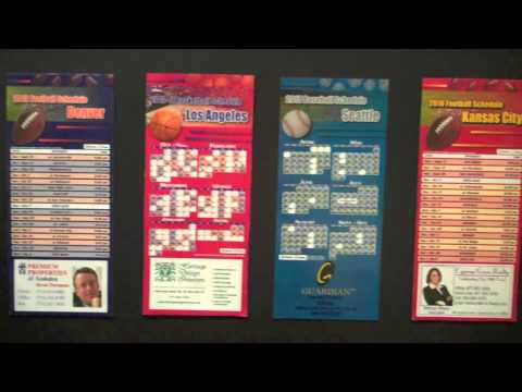 Professional Sports Schedule Magnets