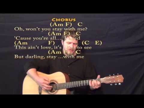 Stay With Me Sam Smith Strum Guitar Cover Lesson With Chords Lyrics