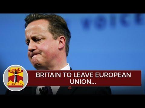 Britain-Votes-to-leave-European-Union--Thanthi-TV