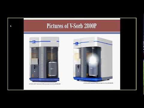BET surface area and BJH pore size distribution analyzer V-Sorb 2800P