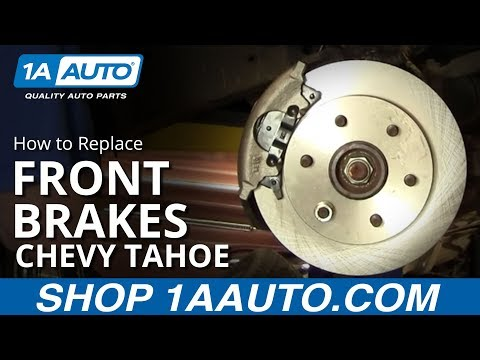 How To Install Replace Front Disc Brakes Chevy GMC Pickup Tahoe Suburban 92-99 1AAuto.com