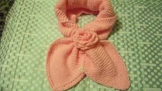 Вязание шарф с петлей 431