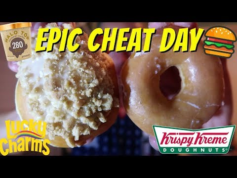 EPIC CHEAT DAY OF DONUTS BURGER CEREALS