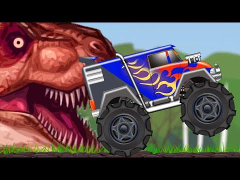 Monster Truck | Monster Truck In Jurassic Land | Dinosaur World