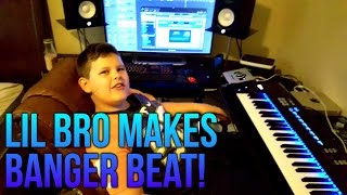 My Little Brother Tries Making a Beat from Scratch (BANGER!!!)