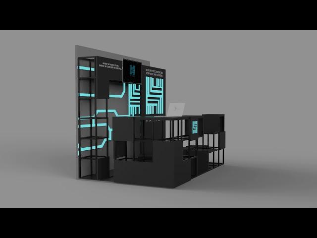 3D модель стенда HACKEN