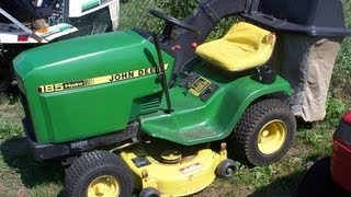 3. John Deere 185 lawn tractor transmission service info