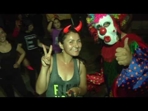 Con masiva asistencia de vecinos se realizó la Zumba Halloween 2016