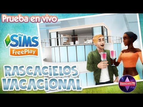 Tarjetas de amor - RASCACIELOS VACACIONAL  Prueba en vivo  Los Sims Freeplay