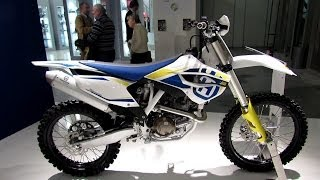 6. 2014 Husqvarna FC 450 Walkaround - 2013 EICMA Milan Motorcycle Exhibition