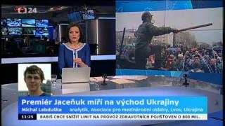 Premiér Jaceňuk míří na východ Ukrajiny