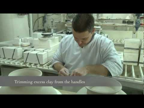 Making Royal Collection English fine bone china in Stoke-on-Trent, Staffordshire, England