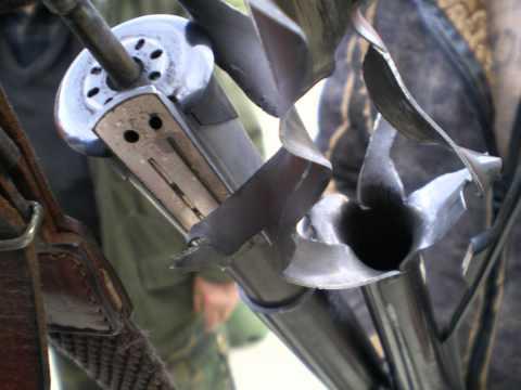 esplosione di un fucile calibro 12.